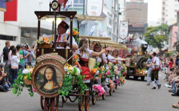 Oktoberfest parade in Blumenau