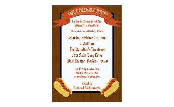 5x7 Oktoberfest Invitation |