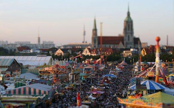 Oktoberfest fair in munich