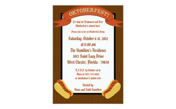 Oktoberfest Invitation Wording