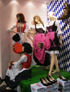 Several different styles of Dirndl