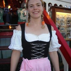With my perfect Dirndl making me look like a real princess